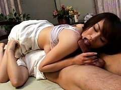 Ina Katori Asian has big cans sucked by man while...