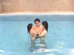 Sayuri Marui Asian and chick fool around with man...