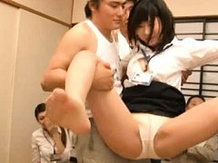 Yumi Aoki Asian and nymphets are fondled in front...