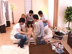 Rina Ooshima Asian sucks tools of dudes undessing...