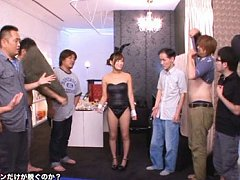 Kokone Mizutani Asian in bunny outfit has boobs ki...