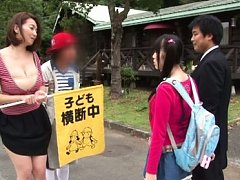 Japanese AV Model exposes hot behind in panty and...