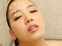 Japanese AV Model with cum on pretty face and tits...