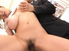Ruri Saijo Asian has fine cans fondled while getti...