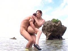 Minori Hatsune Asian all naked sucks hard shlong o...