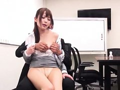 Japanese AV Model is fondled and undressed by her...