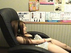 Japanese AV Model pleasures her boobies and naught...