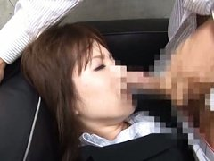 Sae Aihara Asian in office suit is fucked and gets...
