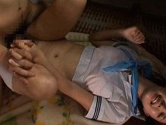 Tsukasa Aoi Asian with big behind has pussy roughl...