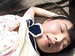 Japanese AV Model is undressed and has peach finge...
