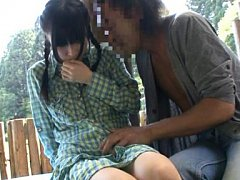 Japanese AV Model has one juicy can exposed and sl...