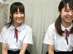 Japanese AV Model and babe in uniforms get vibrato...