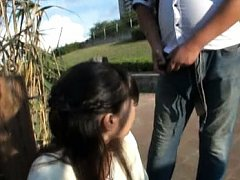 Miku Sunohara Asian is caught peeing outdoor and g...