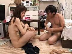 Japanese AV Model is fucked like crazy and gets cu...