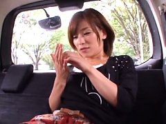 Kaho Kasumi Asian is turned on with vibrator on bo...