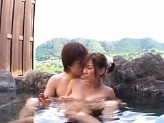 Kaho Kasumi Asian fools around with guy in water a...