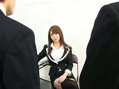 Mako Higashio Asian has pussy touched over thong a...