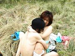 Himawari Asian babe with big nipples is fucked big...