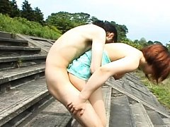 Himawari Asian babe with big cans is fucked doggy...