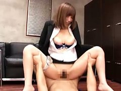 Suzu Tsubaki Asian with big boobs is fucked from b...
