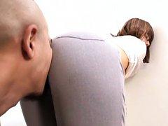 Suzu Tsubaki Asian rubs dick with pussy in tight a...