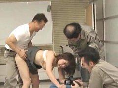 Japanese AV Model is recorded on cam while is dogg...