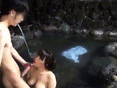 Japanese AV Model has boobs fondled while is fucke...