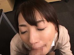 Saki Kouzai Asian specs loves sucking and licking...