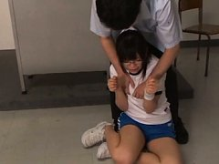 Rina Itou Asian has big cans squeezed and shorts o...