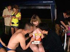 Yuuka Minase Asian has tits sucked while gals have...