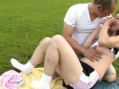 Japanese AV Model is fingered and has cans exposed...