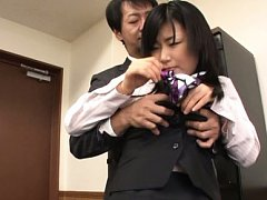 Yume Kyono Asian has tits roughly treated and suck...
