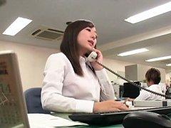 Chika Haruno Asian has hard nipples rubbed and cun...
