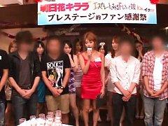 Japanese AV Model topless gives interview while st...