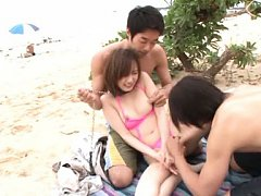 Kana Narimiya Asian is kissed and licked on twat o...