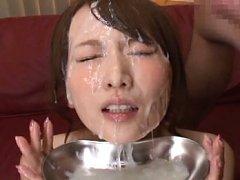 Hana Nonoka Asian with hot boobies gets so much cu...