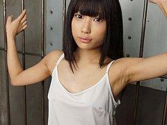 Petite Luna Kobayashi gets pussy fingered as bukka...
