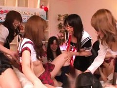 Japanese AV Model and gals with big hooters are fu...
