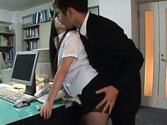 Mei Hayama Asian has hot behind fondled by boss ov...