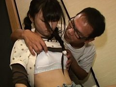Kaede Horiuchi Asian licks candy and has tits touc...