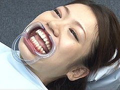 Weird japanese dental bukkake cum bubbling