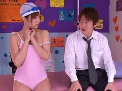 Yuu Namiki Asian with bee stings has cock stuck in...