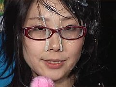 Apprentice weather girl gets showered with cum on...