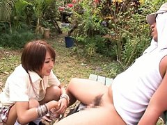 Yuuki Natsume Asian with hot butt under skirt suck...