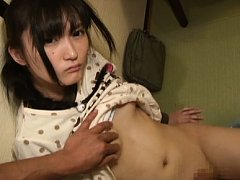 Kaede Horiuchi Asian with nude shaved pussy gets c...