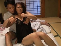 Ayano Murasaki Asian has mouth covered and nasty c...
