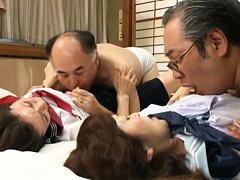 Mika Matsushita Asian and babe in uniform are roug...