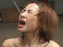 Fuka Sakurai takes an extreme bukkake fluid blast
