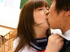 Mizuki Asian doll has big jugs fondled and neck ki...