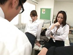 Chisato Shohda Asian and dame in uniform stroke an...